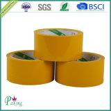 Ясная желтовато лента упаковки Brown OPP/BOPP слипчивая для запечатывания коробки
