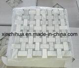 Het zuivere Witte Marmeren Mozaïek van het Mozaïek