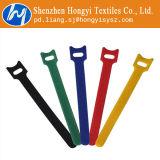再使用可能な多色刷りのホック及びループ有線結着