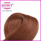 I capelli del Brown scuro hanno colorato i capelli umani diritti peruviani del tessuto 100% dei capelli