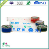 Nastro adesivo acrilico stampato dell'imballaggio di colore rosso per il sigillamento della scatola