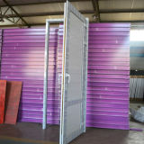 Color PVC Perfil abatible Puerta con panel de UPVC K02047