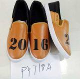 最新の安いPUの人の靴の注入PUは蹄鉄を打つ余暇の靴(PY718A)に