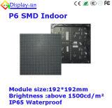 Hoher Auflösung P6 farbenreicher LED-Innenbildschirm