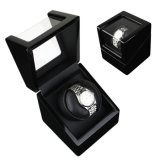 Weiches Touch Paper Single Watch Display Package Box mit Black Velvet Coated