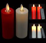 Vela con pilas de la iglesia ligera plástica caliente LED de la venta