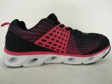 Schwarze rote Komfort-laufende Schuh-Frauen-Turnschuhe