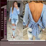 Новая конструкции способа женщин рубашка низко задняя верхняя (TGLDS0971)