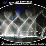 Oscillation musicale de fontaine de danse dans le fleuve