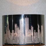 뉴욕 건물 패턴 스테인리스 테이블 램프