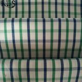 Baumwollpopelin-gesponnenes Garn gefärbtes Gewebe 100% für Hemden/Kleid Rls40-23po