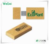 Movimentação de papel da pena do USB com logotipo personalizado (WY-W01)