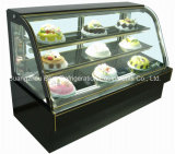 Curved dobro Glass Refrigerate Display Cake Showcase com Ce