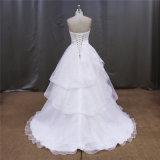 Organza плиссирует платья венчания шкафута падения