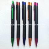 Черная выдвиженческая пластичная ручка (P1021C)