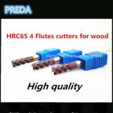 4 cortadores de las flautas para la madera con las herramientas de la alta calidad