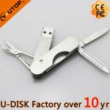 Kundenspezifischer Firmenzeichen-Förderung-Geschenk-Armee-Messer USB Pendrive (YT-1218)