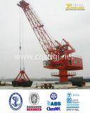 Используемый портом морской кран корабля крана кливера палубного судового крана