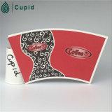 El PE revestido del ventilador de la taza de papel de Hztl, tazas de café disponibles, espacio en blanco revestido de la taza de papel del PE