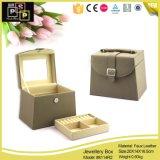 Caixa de jóia de couro valiosa da alta qualidade (8114)