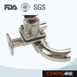 Type sanitaire soupape à diaphragme (JN-DV1018) de 3 voies U d'acier inoxydable