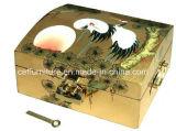 Покрашенная рукой коробка ювелирных изделий Fengshui крана сосенки золота лака