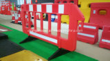 Загородка барьера безопасности дороги движения портативная пластичная