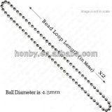4.5mm en plastique et chaîne d'abat-jour de rouleau de chaîne de bille en métal