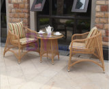 3 PCS PET Rattan-Balkon-Patio-Möbel-Set
