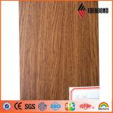 comitato composito di alluminio del reticolo di legno di 4mm