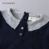 Girls를 위한 진한 파란색 Kids Clothing Sweaters