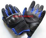 Перчатка мотоцикла, перчатки волокна углерода, полный перст Golves