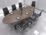 Piccolo tavolo di riunione rotondo moderno dell'ufficio della melammina di Ikea (SZ-MT123)