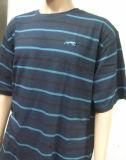 T-shirt simple d'hommes de série de piste de coton