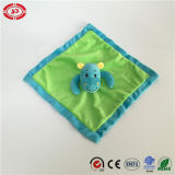 Grünes Soft Velboa mit Blue Hippo Adorable Baby Blanket