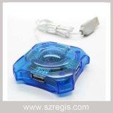 Эпицентр деятельности 4 Port USB2.0 формы Octangle своеобразнейший (голубой)