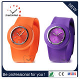 Promotion Sport Wrist Rubber Silicone Slap Fashion Watch Merry Christmass Gift (DC-104)