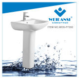 Bassin en céramique de lavage de lavabo sur pied de lavage de Weidansi (WDS-P7202)