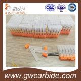 Molino de extremo del carburo de tungsteno HRC45-55 R0.5mm