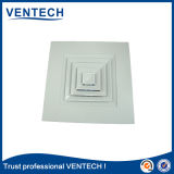 Diffuseur de vente chaud d'air d'approvisionnement de plafond de ventilation, diffuseur carré de climatisation (SCD-VA)