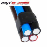 0.6/1kv câble en aluminium d'ABC du fil isolé par PVC/XLPE 4X50 mm2