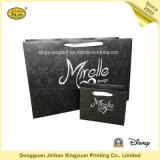 Sacchetto di acquisto di carta nero con la maniglia (JHXY-PBG0016)