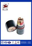 cabo distribuidor de corrente subterrâneo isolado PE/XLPE do cobre 600/1000V/o de alumínio do condutor do PVC da bainha