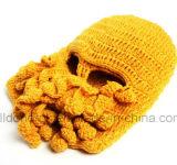 Уникально вязание крючком руки маски восьминога сделало связанный шлем зимы