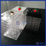 Diseño al por mayor de China nuevo que hace girar el soporte de acrílico del lápiz labial