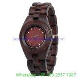 Relógio de madeira de quartzo da alta qualidade, faixa de madeira, movimento Ja- 15132 de Jpan