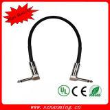 Doppeltes Denoise Flechten-Schild-reines kupfernes Effekt-Pedal-Kabel