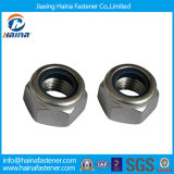 스테인리스 Steel/Zinc Plated Hexagon Nylon Insert Locknut DIN985, Nylon Nuts 또는 Nyloc Nut, Elastic Stop Nut