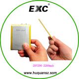 Bateria recarregável do polímero do lítio para 297290 2200mAh 3.7V
