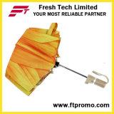 De promotie Hand Open Paraplu van de Douane voor 3 die vouwen
